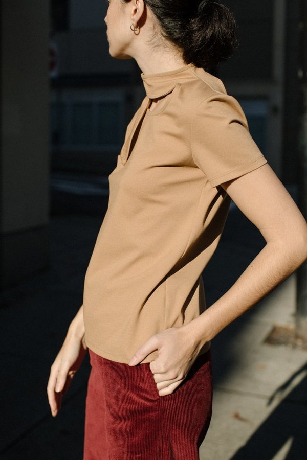 Maryam Nassir Zadeh Phoebe T-shirt - Camel
