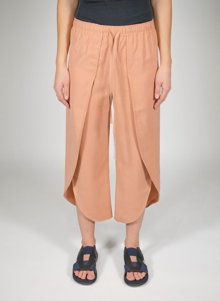 Priory Shop Tulip Pant - Dusty Pink Modal