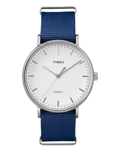 Timex The Fairfield Watch Chrome - Blue White