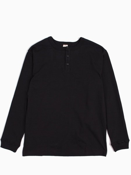 3Sixteen Long Sleeve Henley - Black