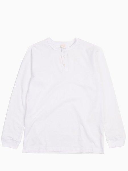 3Sixteen Long Sleeve Henley - White