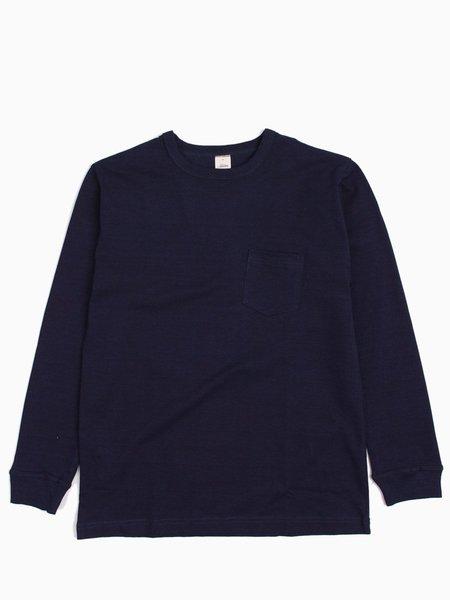 3Sixteen Long Sleeve Pocket T-Shirt - Indigo