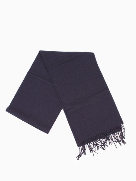 Norse Projects Norse x Johnstons Lambswool Scarf - Navy