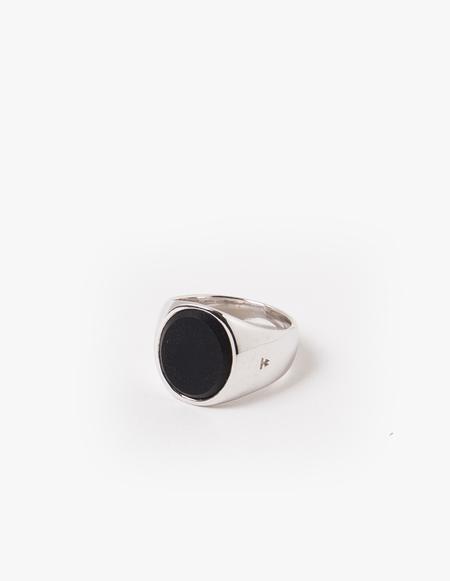 Tom Wood Oval Black Onyx Ring