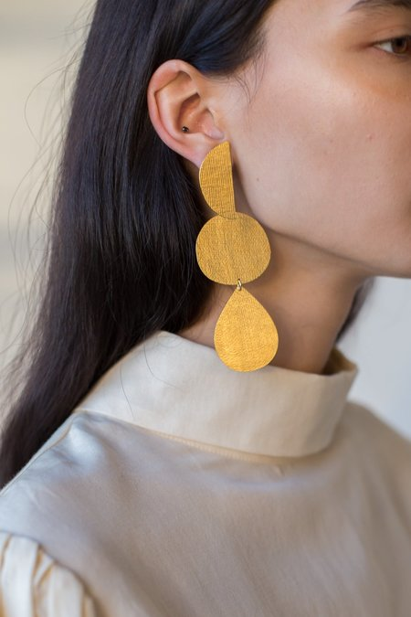 Annie Costello Brown Thea Earrings in Gold