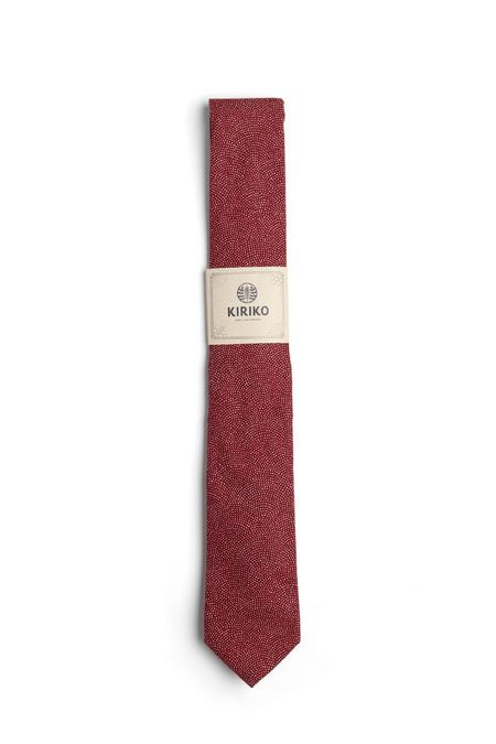 Kiriko Red Same Komon Tie