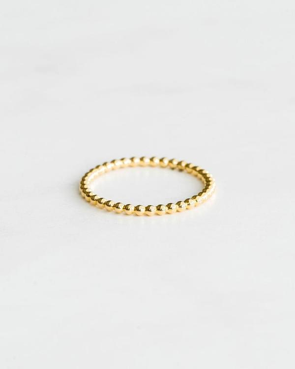 Seldom Seen Tiny Ball Ring Yellow Gold