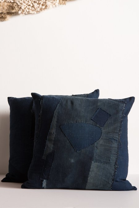 Samantha Verrone Boro Patchwork Pillow Set - Indigo