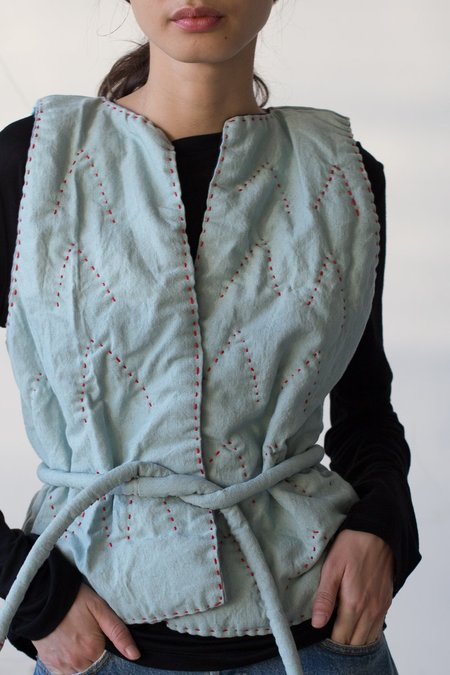 CMC Quilted Vest in Blue