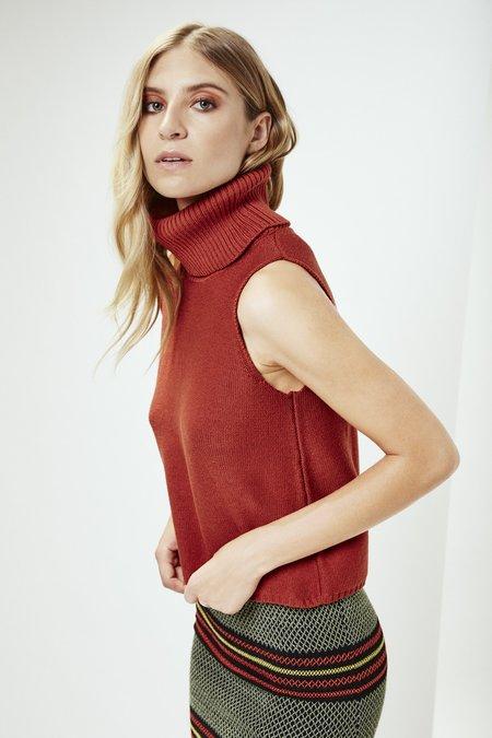 Mila Zovko Amanda Sweater in Rust