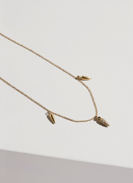 Pamela Love 3 Spike Necklace