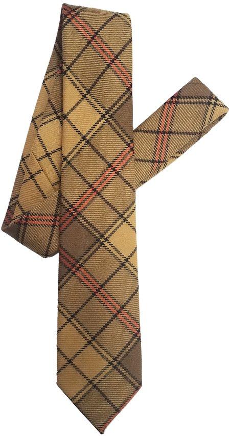 David Hart Butterscotch Tartan Tie