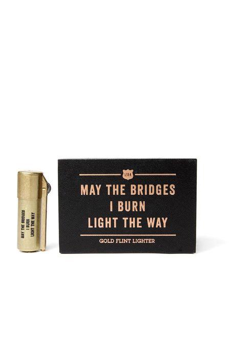 Izola Bridges I Burn Gold Flint Lighter