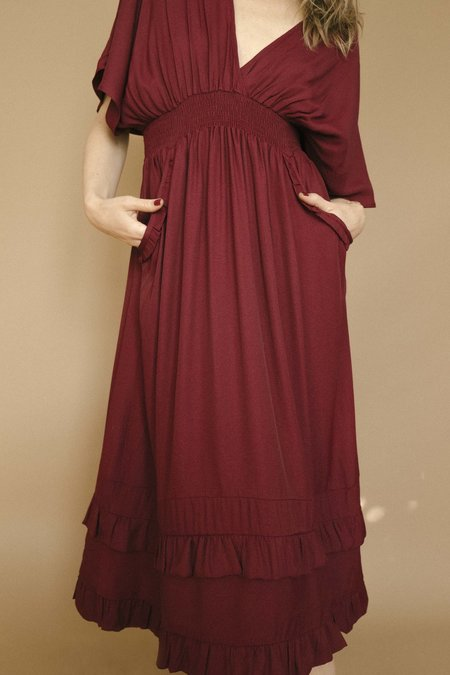 Maria Stanley The Flora Dress - Bordeaux