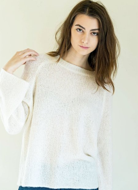 360 Cashmere Shyann Sweater in Snow