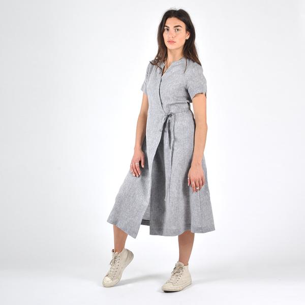 Nikki Chasin Leda Wrap Dress - Chambray