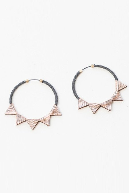 Molly M. small leather hoops