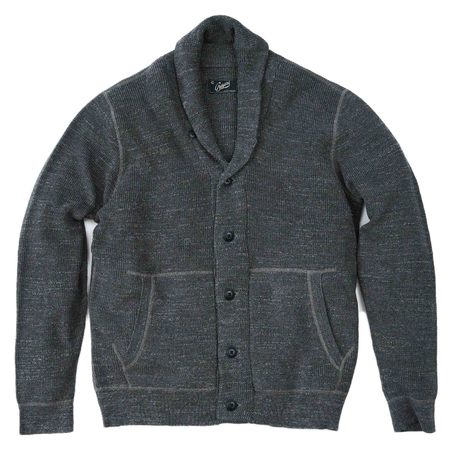 Grayers Cabana Shawl Cardigan - Light Charcoal