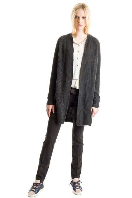 Paychi Guh Cashmere Long Cardigan - Charcoal