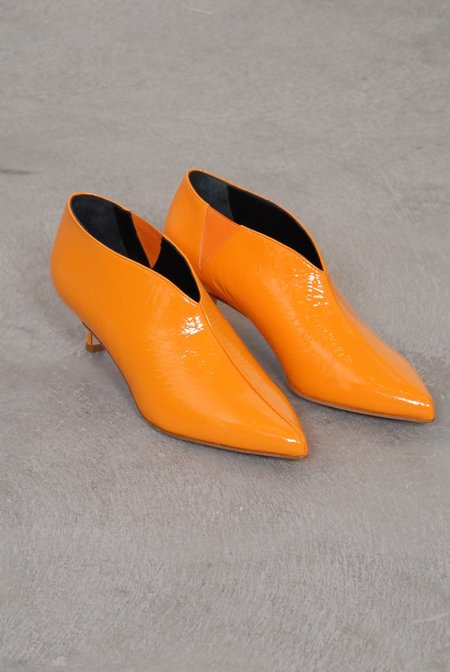 Tibi Joe Ankle Boots - Tangerine