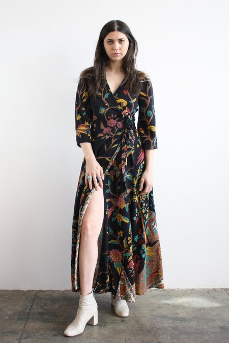 John & Mickie Tree of Life Tapestry Dress - Black