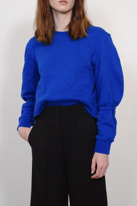 Tibi Sculpt Sweatshirt - Brodea Blue