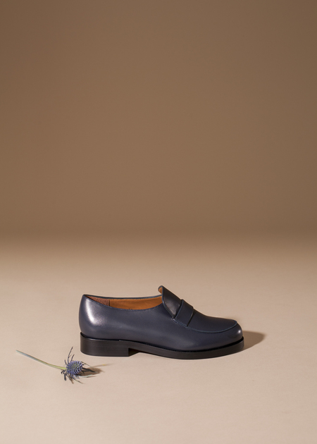 Anne Thomas Leonard Loafer - Buio Calf