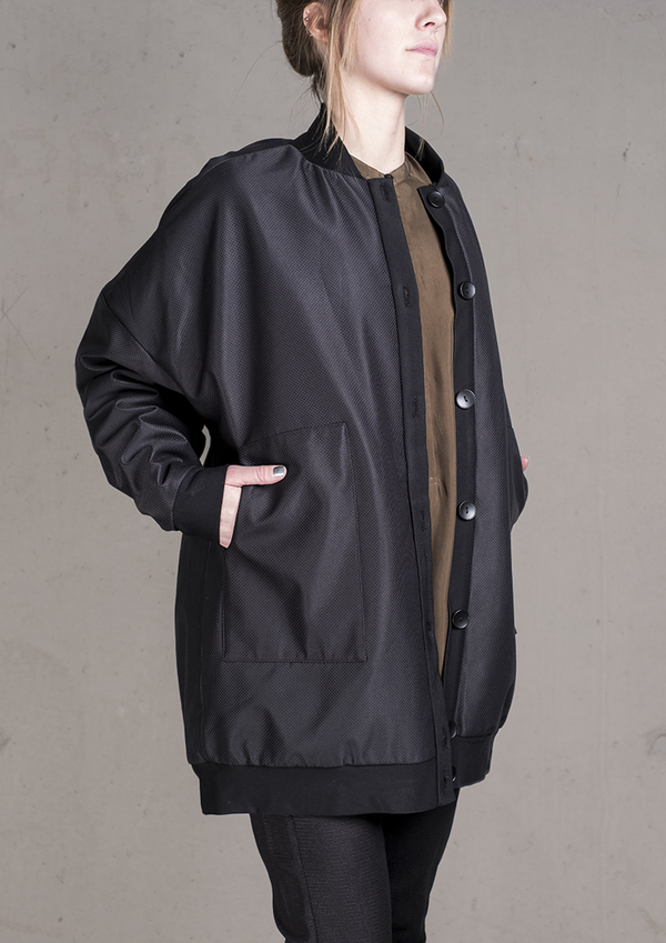 Berenik Pilot Jacket Weather Cloth - Black