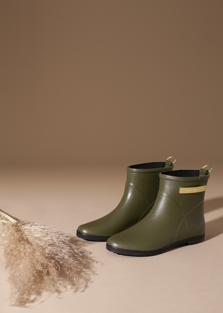 Alice + Whittles Classic Olive and Black Ankle Boot