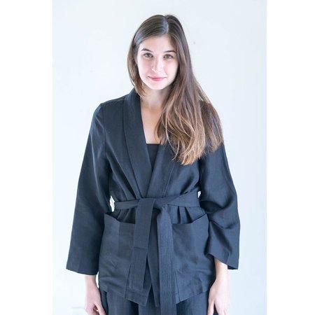 Apiece Apart Faye Wrap Jacket in Black