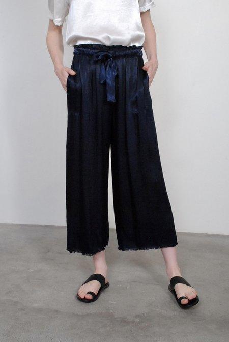 Raquel Allegra Pebble Satin Paper Bag Pant - Midnight