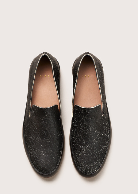 FEIT Hand Sewn Slipper - Black Crackle