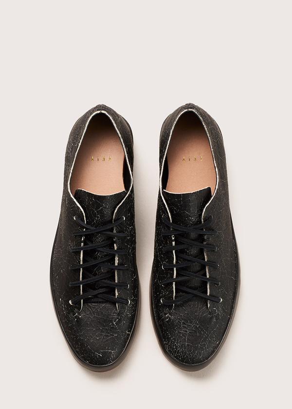 Women's Hand Sewn Low - Black Crackle