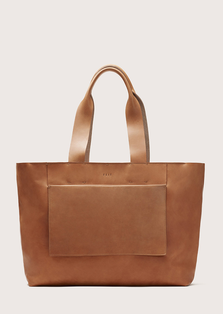 FEIT Large Tote Bag - Tan
