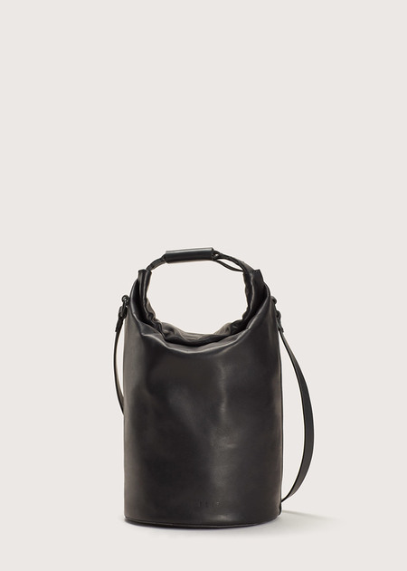 FEIT Small Navy Bag - Black Leather