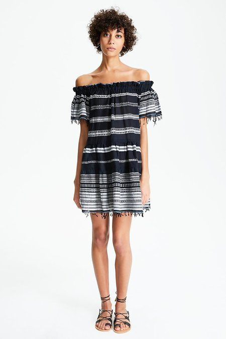 Lemlem Kal Off The Shoulder Dress in Black