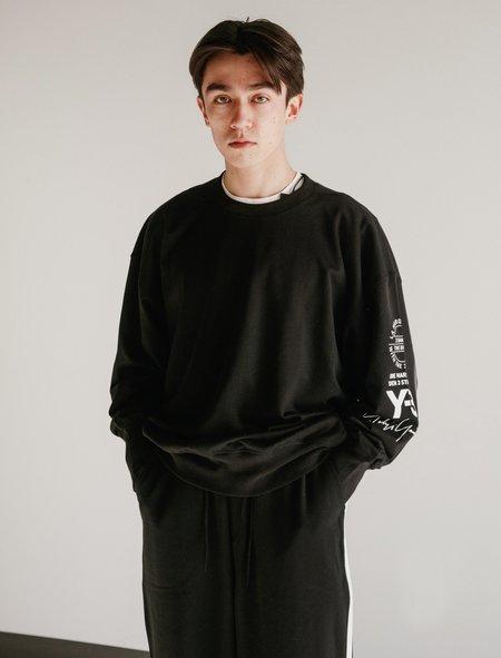 Y-3 Graphic Crew Sweater - Black