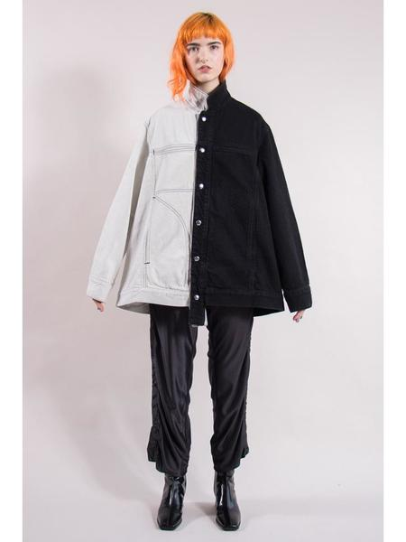 Eckhaus Latta Denim Jacket - Black and White