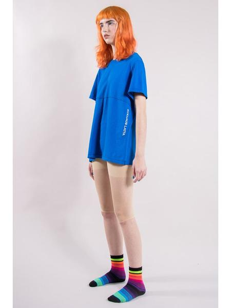 Eckhaus Latta Lapped Tee - Blue