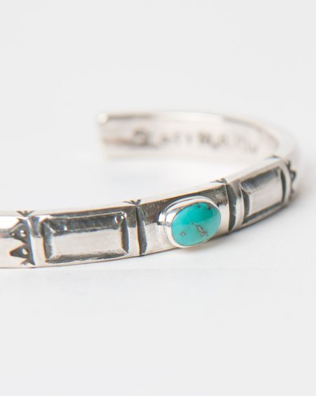 Larry Smith Rectangle Cuff - Turquoise Stone