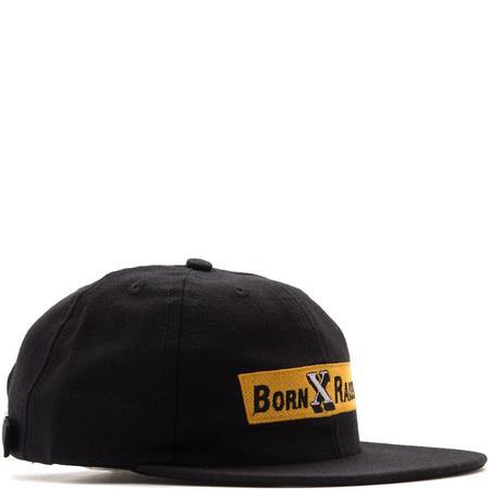 BORN X RAISED FOOD CO STRAPBACK HAT - BLACK