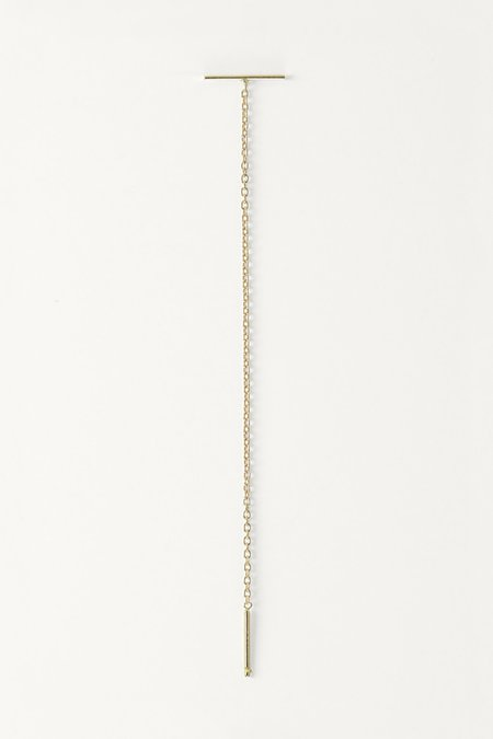Kathleen Whitaker Staple And Chain Earring