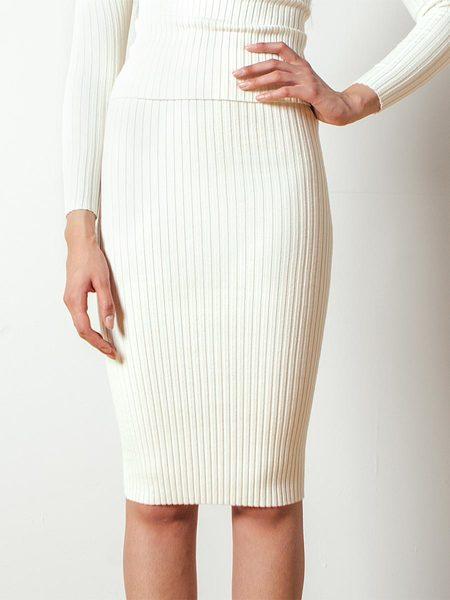 giu giu Nonna Tube Skirt in Ivory