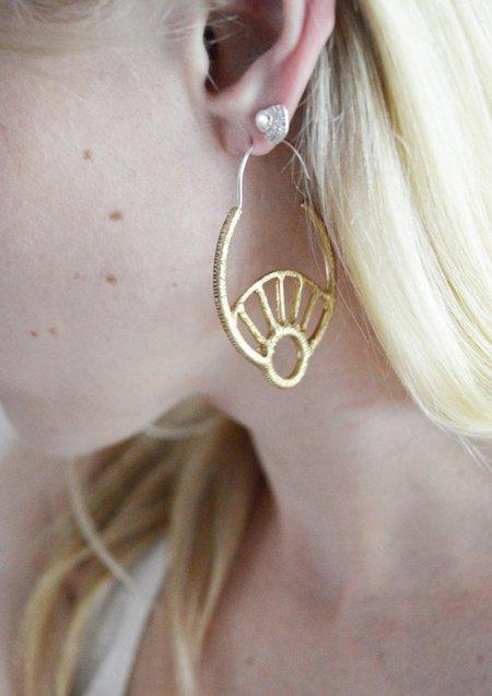 Stefanie Sheehan Day Dreamer Hoop Earrings
