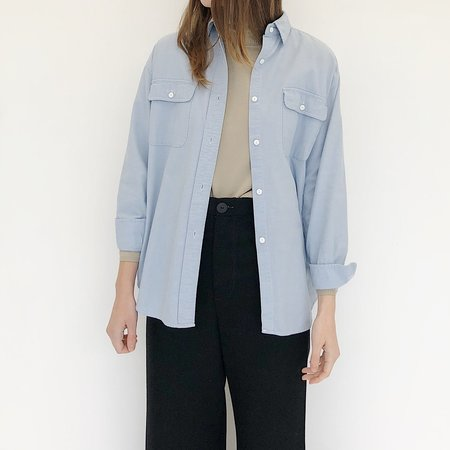 Johan Vintage Light Chambray Oxford Shirt