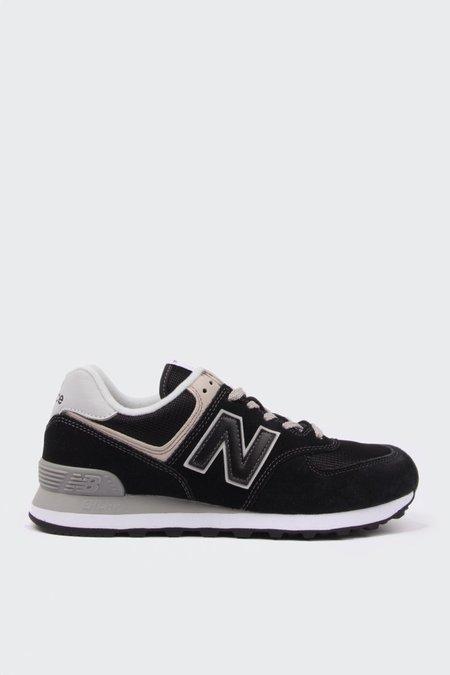 New Balance 574 Classic  - black/grey suede