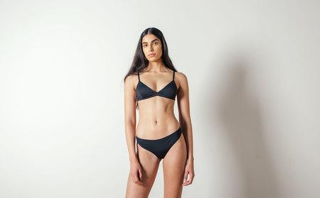 Baserange Bell Swim Pants in Black