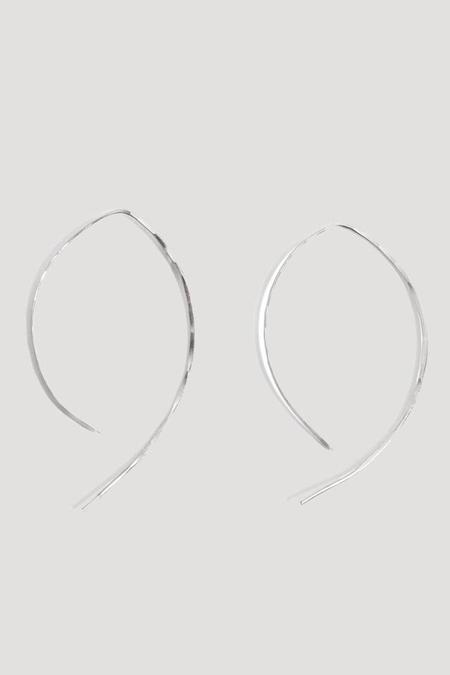 "Melissa Joy Manning 2"" Wishbone Hoop Earring in Sterling Silver"