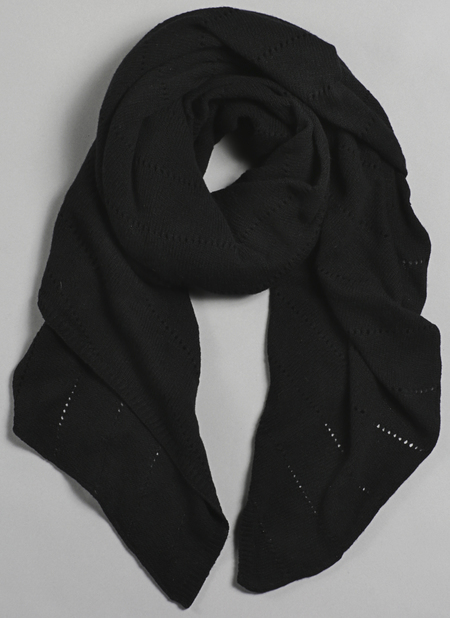 Unisex Grei Cashmere Oversized V-Knit Repeat Scarf In Black