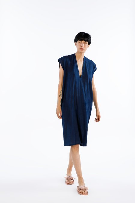 Miranda Bennett Everyday Dress Cotton Gauze in Dark Indigo